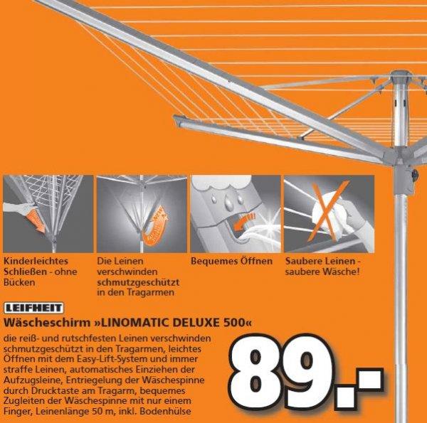 [Globus-Baumarkt] LEIFHEIT Wäscheschirm Linomatic Deluxe 500 für 89,00 Euro.