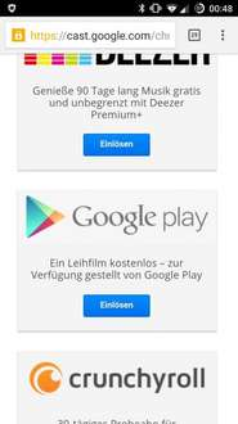 [Chromecast] Gratis Leihfilm - Play Movies