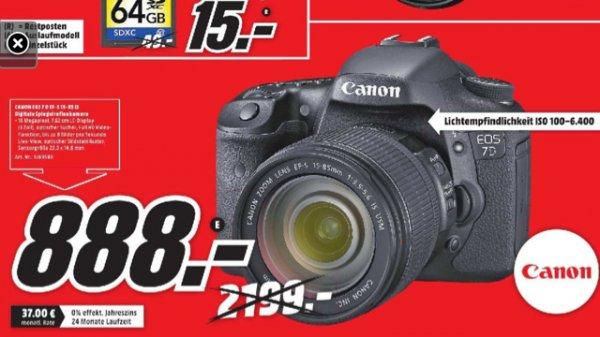 (Lokal Media Markt Hildesheim) Canon EOS 7D Kit 15-85 IS