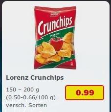 Netto MD (oH) und LIDL am 1.8.: Lorenz Crunchips verschiedene Sorten 0,99€