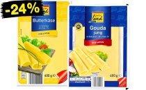 [Netto MD] Gutes Land Butterkäse und Gouda in Scheiben, 400 g für 1,08€, am 25. 7. 2015 (Angebot und Rabattaufkleber)