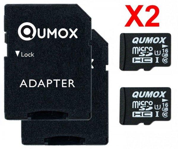 (Ebay) 2x Qumox 16GB Class 10 UHS-I U1 Micro SD HC 16 GB Speicherkarte für 11,35.-