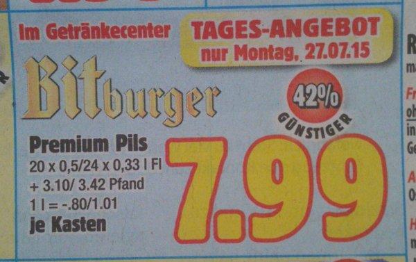 [Lokal Witten] Kasten Bitburger Pils 20 x 0,5 l im boni-Center für 7,99 € zzgl. Pfand. Nur am 27.07.!