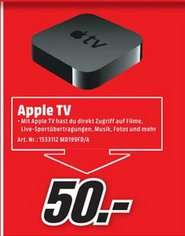 [lokal] Media Markt Heidelberg - Apple TV 3 50 EURO