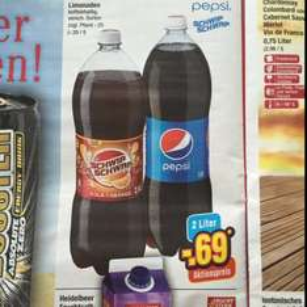 Pepsi & SchwipSchwap 2 Liter für 69 Cent