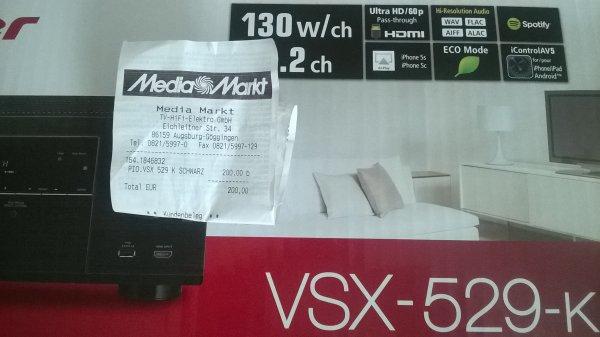 [Lokal Augsburg] Pioneer VSX-529-K 5.2 AV-Receiver