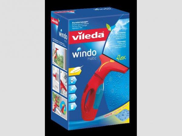 Vileda Fenstersauger Windomatic mit Tuch