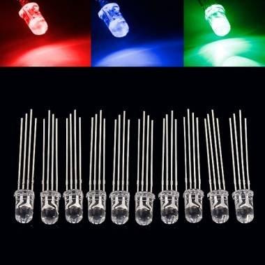 10x 5mm RGB-LED für 0,61€ (ab 10sets 0,37€ / set) @Banggood CN
