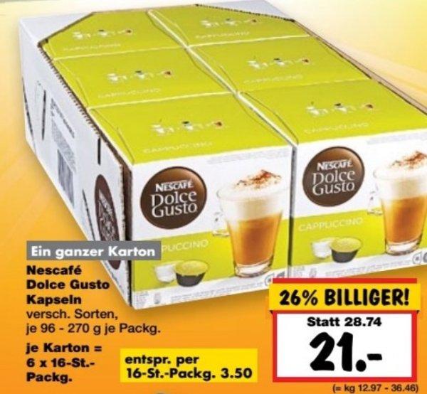 (Lokal) Nescafé Dolce Gusto 6 Packungen für 21 € in Dallgow-Döberitz bei Berlin