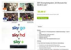 brands4friends: SKY Komplettpaket, 24 Monate für 35,99 €