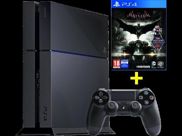 SONY PlayStation 4 500 GB Schwarz + Batman Arkham Knight [Mediamarkt Online Österreich]