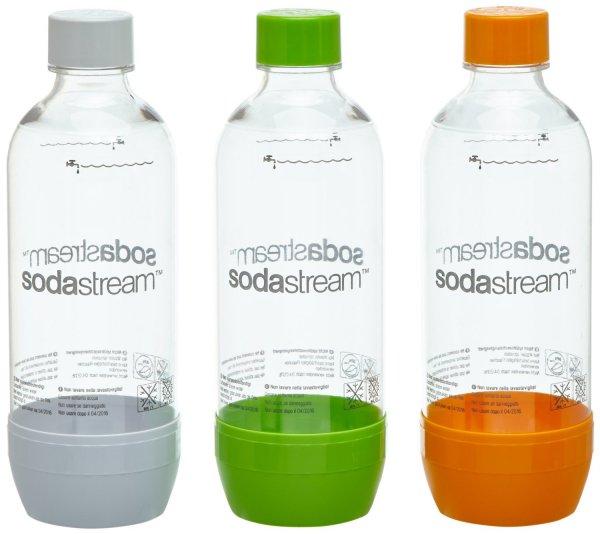[SATURN] 3 bunte Flaschen für Soda Stream - 11,99€ [Idealo: 15,94€]