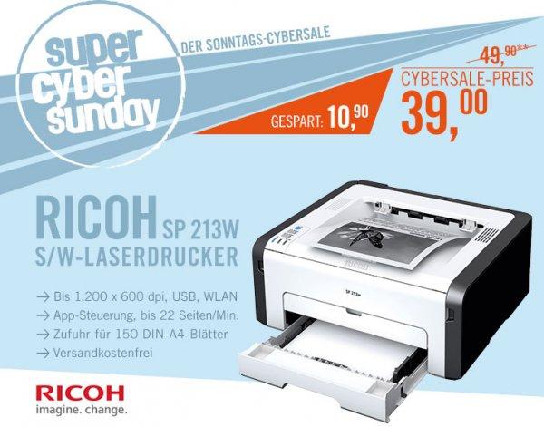 Laserdrucker: RICOH SP 213w für 39€ (statt 49€)