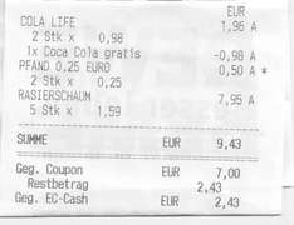 Coca Cola Life für 33ct/L bzw. 2x1,5L für 0,99€ bei REWE (evtl. Bundesweit)