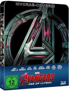 The Avengers 2: Age of Ultron 3D, 1 Blu-ray (Steelbook) Vorbestellung @bücher.de 25,27€