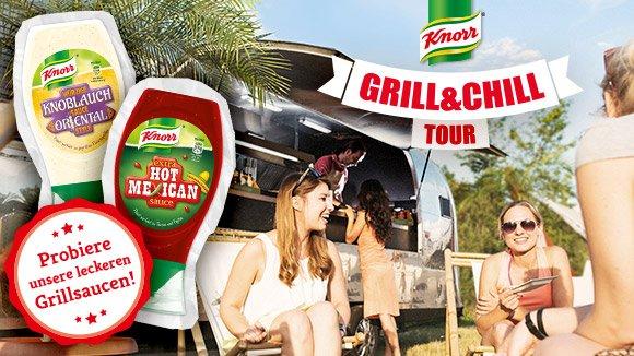 [Tour] - Grill and Chill - Knorr - Würstchen und Schweinesteaks kostenlos + Promoartikel