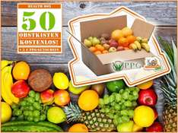 50 x Obst/Health Box kostenlos für alle neuen Newsletter-Abonnenten