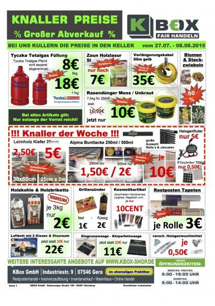 (Lokal Gera) Großer Abverkauf in der KBox Gera