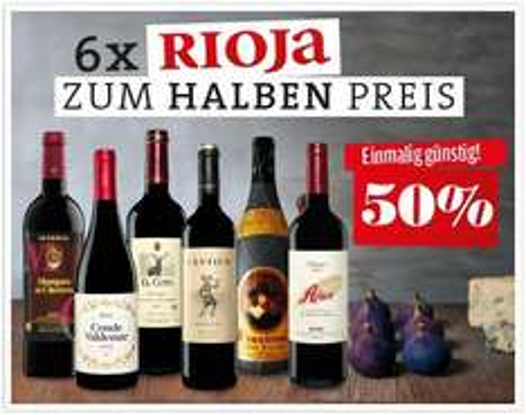 Rioja-Paket 6 Flaschen Angebotspreis / Versandkostenfrei