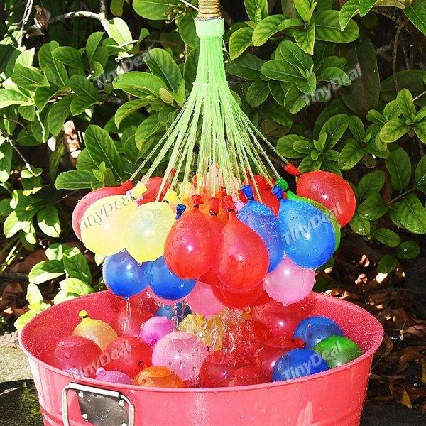 111 Wasser Ballons mit Füllvorrichtung in 60Sek. 111 Ballons befüllbar bei Tinydeal