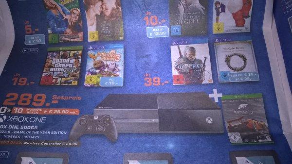 [Saturn bundesweit] Viele Gamedeals: Xbox One + Forza 5 289,- Euro; GTA 5 für X1 für 19,- Euro; Witcher 3 für PS4 oder Elder Scrolls Online für X1 oder PS4 je 39,- Euro