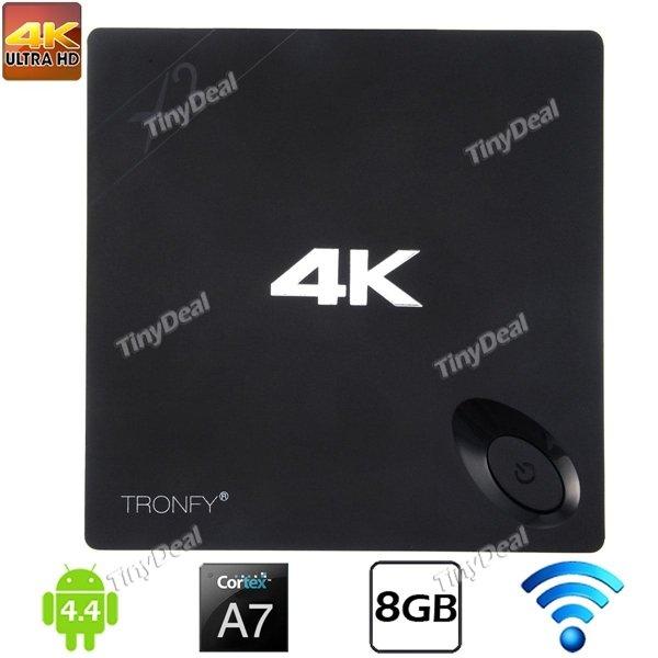 TRONFY X2 Android 4.4 TV BOX Quad-core CPU 1G/8G 4K Wiedergabe KODI vorinstalliert bei Tinydeal