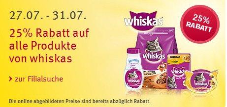 Rossmann 25 % auf Wiskas Katzenfutter sogar 35 % möglich