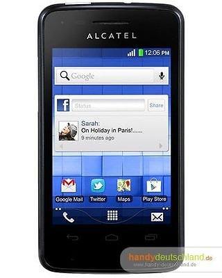 @ebay: Original Verpacktes Smartphone Handy Alcatel T Pop 4010x ohne Vertrag für 29 € / Idealo ab 55 €