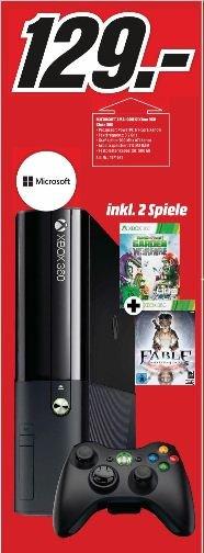 (Media Markt Erlangen) Xbox 360 - 500GB plus 2 Spiele (Plants vs. Zombies: Garden Warfare + Fable: Anniversary) für 129,- EUR