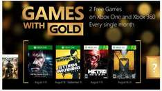 Games with Gold August: Metal Gear Solid & How to survive (one), Metro 2033 & Last Light (360)