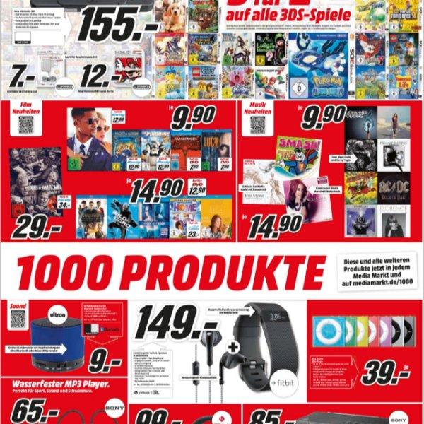 Bundesweit!!!!! 3DS Spiele 3 für 2 Media Markt!!!!! Auch Online