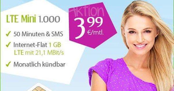 [WinSim] 50 Min. + 50 SMS + 1GB Surf-Flat für 3,99€/Monat