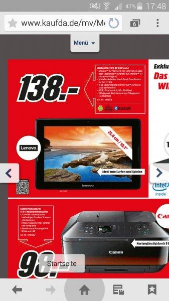 """Media Markt 1000: LENOVO Tablet A10-70 10"""""""