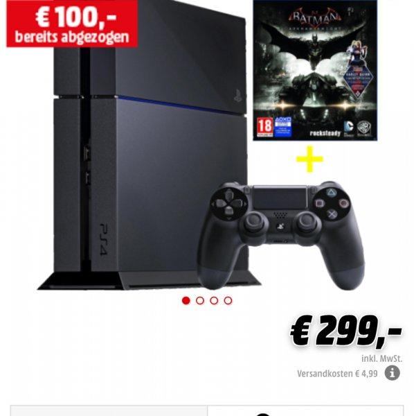(MediaMarkt AT) PlayStation 4 500GB inkl. Arkham Knight für 307,90€