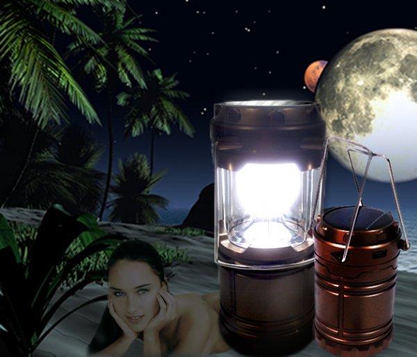G-85 6Led Solar Strom od. Batterie betriebene LED Leuchte mit Power Bank Funktion bei allbuy