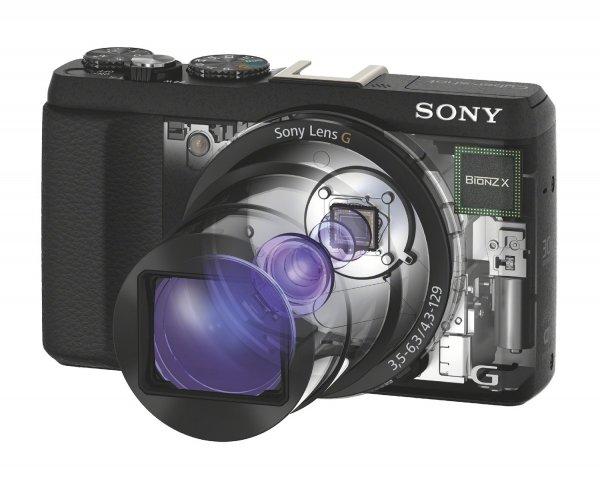 Sony DSC-HX60V Digital Kamera (20,4 MP mit Exmor R CMOS-Sensor,  G-Objektiv mit optischem 30fach-Zoom, 3 Zoll, WiFi, NFC, GPS für 235,08€ @Amazon.it