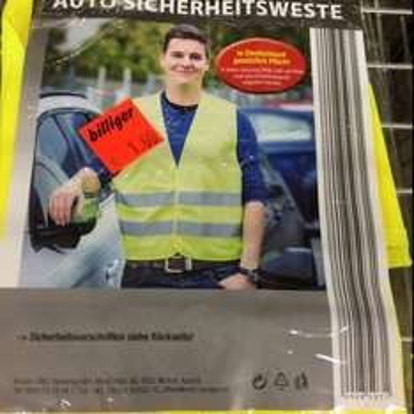 Sicherheitsweste fürs Auto für 1 Euro !