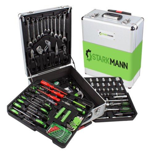 STARKMANN Greenline Werkzeug-Trolley Set mit ergonomischen Handgriffen 225 tlg WoW / Tito-Express