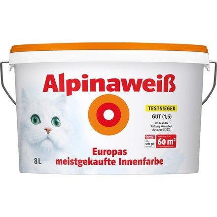 2 Eimer (2x8l = 16l) Alpinaweiß mit Muschi +15€ Gutschein (Offline Hagebaumarkt)
