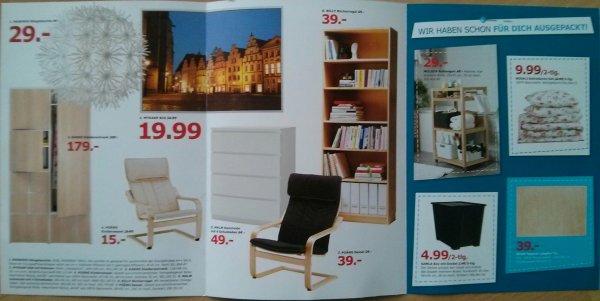 [Lokal IKEA Osnabrück] Ab 1.8. Geburtstags-Angebote zB. BILLY Bücherregal (402.797.88) zu 39€ statt 59€