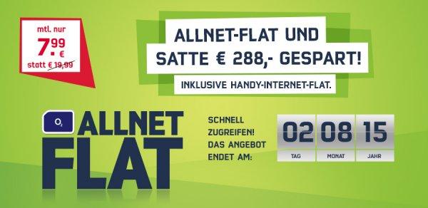 o2 Comfort Allnet Flat Mobilcom Debitel 500MB bei 7,2 Mbit Alle Netze für 7,99€ direkt auf der Rechnung