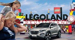 Erinnerung: Samstag und Sonntag ist Hyundai-Familienwochenende im Legoland - Hyundaifahrer kommen mit 3 weiteren Personen kostenlos rein