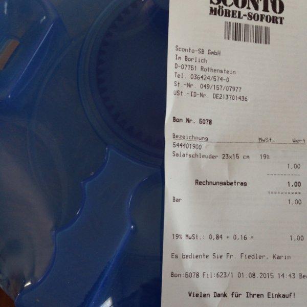 [lokal]Salatschleuder bei Sconto in Rothenstein für 1€