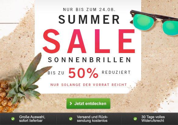 [Mister Spex] Summer Sale Sonnenbrillen bis zu 50% reduziert + mit 15% McDonalds Gutscheine kombinierbar