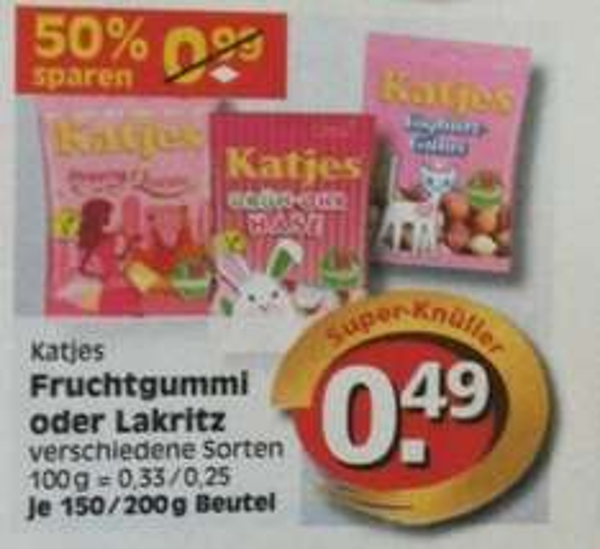 [Reichelt Edeka Berlin offline] 49 Cent für Katjes Fruchtgummi  &  Lakritze