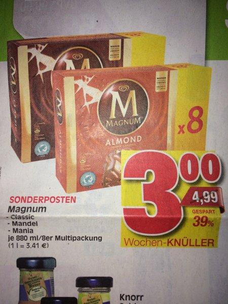 [Lokal Marktkauf Einbeck Northeim Eisenach Nordhausen] Magnum 8er Pack versch. Sorten 3,00 €