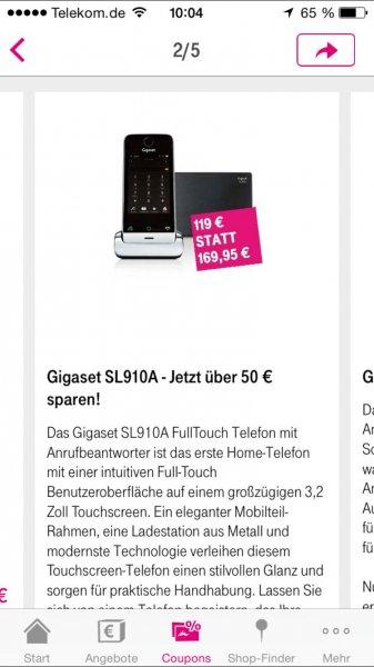 Bis zu 50 € auf Gigaset Schnurlostelefone sparen!