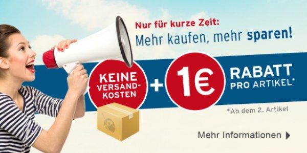 Medimops keine Versandkosten + 1€ Rabat pro artikel