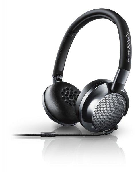 Philips Fidelio NC1 (schwarz) - On-Ear-Kopfhörer (Noise Cancelling, Mikrofon) für 184,98 € @ notebooksbilliger.de