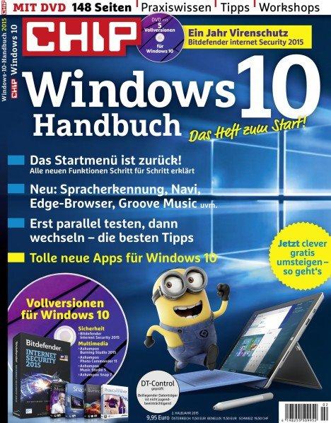 CHIP Windows 10 Handbuch für 9,95€ mit 1 Jahr Bitdefender Internet Security im Wert von 59,95€!